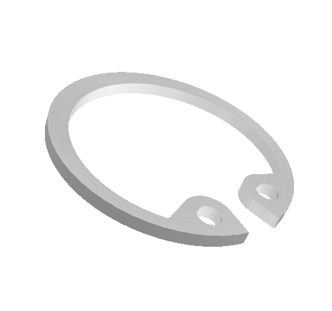 Retaining Ring,Stainless Steel, for use with Hermetic Fiber Optic Bore Mount Adapters