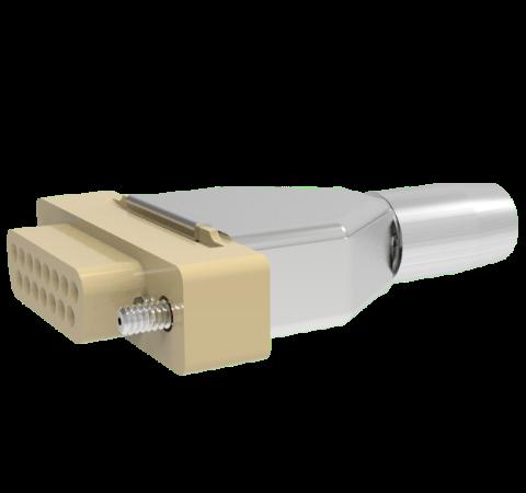 Mil-C-24308 Sub D, Peek Plug With Backshell, 15 Pin, 0.040 Copper Alloy Crimp Contacts, 500V, 5 Amp