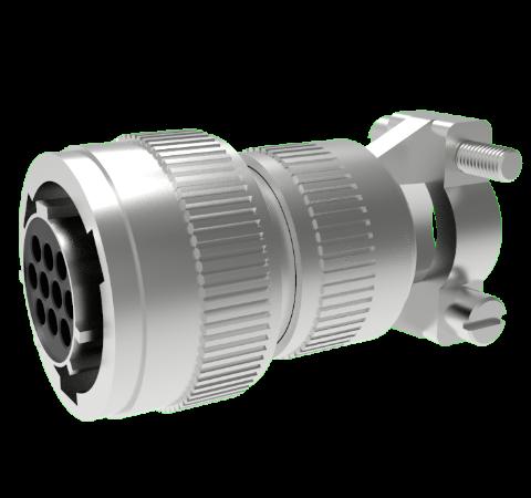 Mil-C-26482 Circular, Air Side Crimp Plug, 10 Pin, Copper Alloy Contacts, 1kV, 5 Amp
