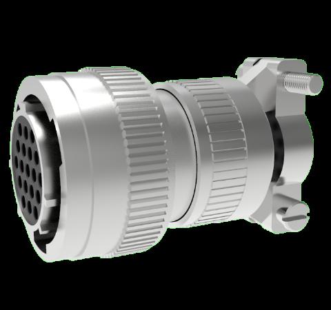 Mil-C-26482 Circular, Air Side Crimp Plug, 19 Pin, Copper Alloy Contacts, 1kV, 3 Amp