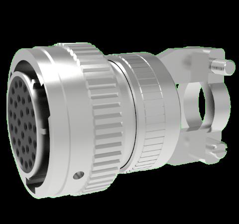 Mil-C-26482 Circular, Air Side Crimp Plug, 32 Pin, Copper Alloy Contacts, 1kV, 3 Amp