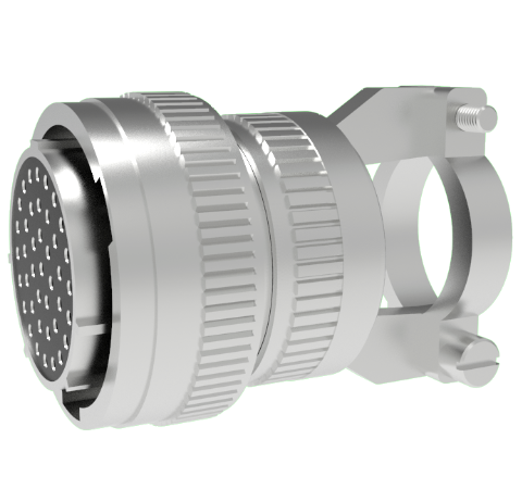 Mil-C-26482 Circular, Air Side Crimp Plug, 41 Pin, Copper Alloy Contacts, 1kV, 3 Amp