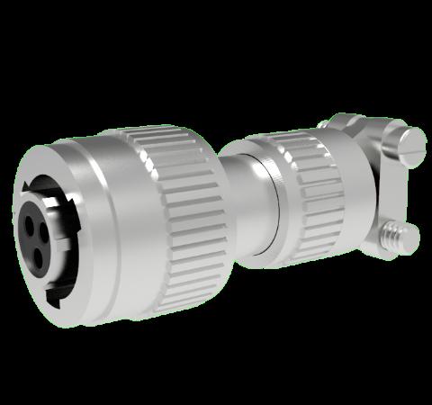 Mil-C-26482 Circular, Air Side Crimp Plug, 3 Pin, Copper Alloy Contacts, 1kV, 5 Amp