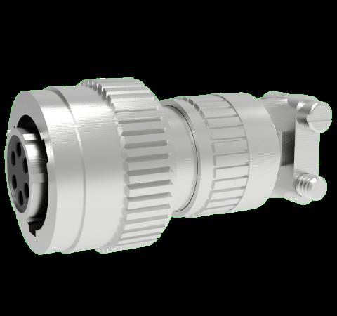 Mil-C-26482 Circular, Air Side Crimp Plug, 6 Pin, Copper Alloy Contacts, 1kV, 5 Amp