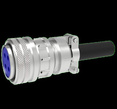 Mil-C-5015 Circular, Air Side Thermocouple Crimp Plug, 2 Pair, Type K