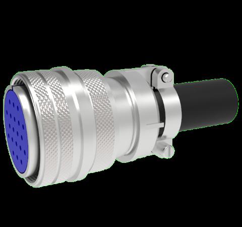 Mil-C-5015 Circular, Air Side Solder Plug, 20 Pin, 0.062 Diameter Contacts, 700V, 13 Amp