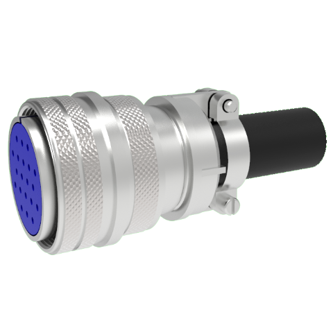 Mil-C-5015 Circular, Air Side Thermocouple Crimp Plug, 10 Pair, Type K