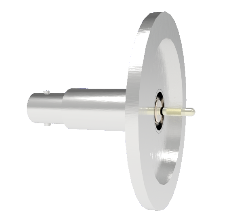 SHV Grounded Shield Recessed 5kV 10 Amp 0.094 Nickel Conductor KF40 Flange Without Plug