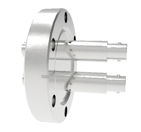 MHV Grounded Shield Recessed 5kV 3.6 Amp 2 each in a CF2.75 Flange Without Plug