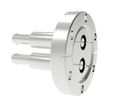 SHV Grounded Shield Recessed 10kV 8.2 Amp 0.051 Nickel Conductor 2 each CF2.75 Flange Without Plug