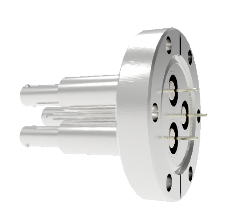SHV Grounded Shield Recessed 10kV 8.2 Amp 0.051 Nickel Conductor 3 each CF2.75 Flange Without Plug