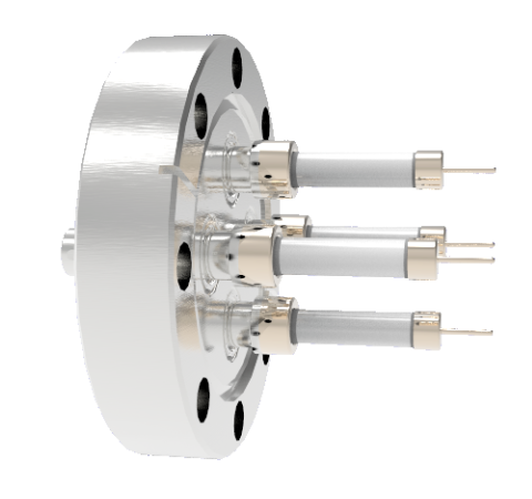 SHV Grounded Shield Exposed 10kV 8.2 Amp 0.051 Nickel Conductor 4 each CF3.375 Flange Without Plug