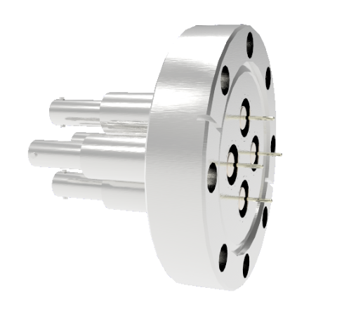 SHV Grounded Shield Recessed 10kV 8.2 Amp 0.051 Nickel Conductor 4 each CF3.375 Flange Without Plug