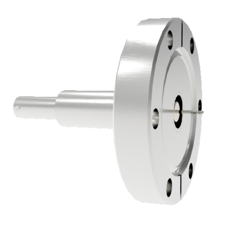 SHV Grounded Shield Recessed 10kV 8.2 Amp 0.051 Nickel Conductor CF2.75 Flange Without Plug