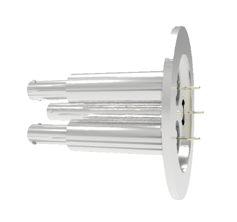 SHV Grounded Shield Recessed 10kV 8.2 Amp 0.051 Nickel Conductor 3 each KF50 Flange Without Plug
