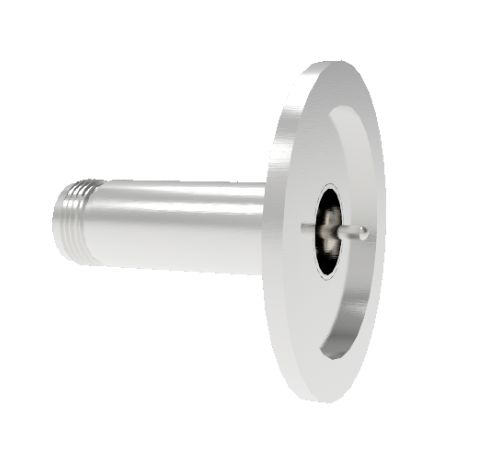Type N Grounded Shield Recessed 1.5kV 3.6 Amp 0.094 304 Stn. Stl. Conductor KF40 Flange