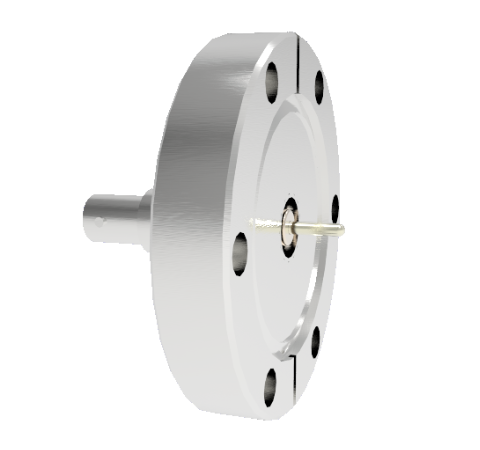 SHV Grounded Shield Recessed 5kV 10 Amp 0.094 Nickel Conductor CF2.75 Flange Without Plug