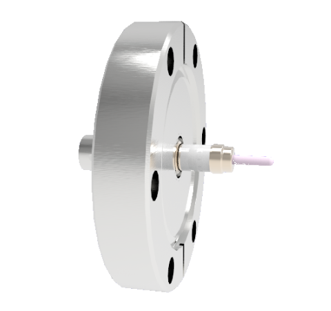 SHV Grounded Shield Exposed 5kV 10 Amp 0.094 Nickel Conductor CF2.75 Flange Without Plug