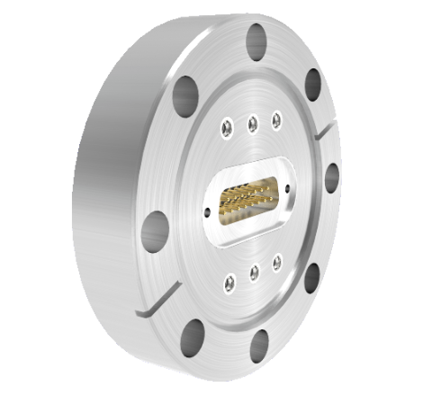 SMP 50 Ohm Grounded Shield Recessed Double Ended 500V CF3.375 Flange with Sub D connector