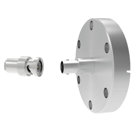 MHV Grounded Shield Recessed 5kV 3.6 Amp 0.094 304 Stn. Stl. Conductor CF2.75 Flange With Plug