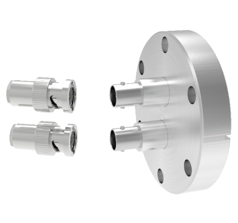 MHV Grounded Shield Recessed 5kV 3.6 Amp 0.094 304 Stn. Stl. Conductor 2 each CF2.75 With Plug