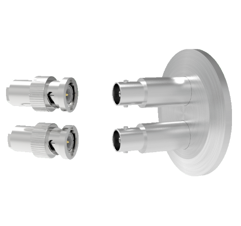 MHV Grounded Shield Recessed 5kV 3.6 Amp 0.094 304 Stn. Stl. Conductor 2 each KF40 With Plug