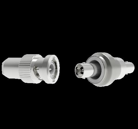 BNC 50 Ohm Floating Shield  500V 0.8 Amp Weld With Plug