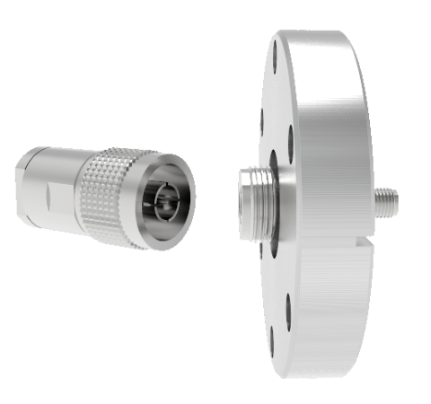 Type N to SMA  50 Ohm Grounded Shield 1.5kV 1 Amp CF2.75 Flange with Type N Air Side Plug