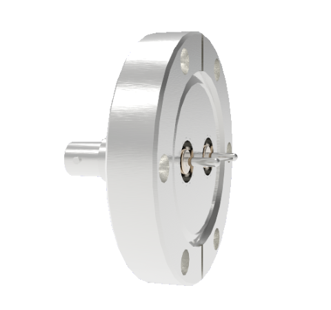 MHV Grounded Shield Recessed 5kV 3.6 Amp 0.094 304 Stn. Stl. Conductor 2 each CF2.75 Without Plug