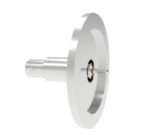 MHV Grounded Shield Recessed 5kV 3.6 Amp 0.094 304 Stn. Stl. Conductor KF40 Flange Without Plug