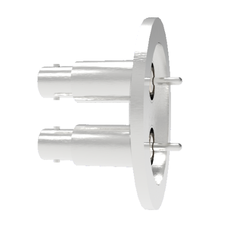 MHV Grounded Shield Recessed 5kV 3.6 Amp 0.094 304 Stn. Stl. Conductor 2 each KF40 Without Plug