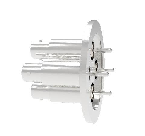 BNC Grounded Shield Recessed 500V 3.6 Amp 0.094 304 Stn. Stl. Conductor 4 each KF40 Without Plug