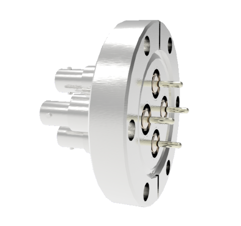 SHV Grounded Shield Recessed 5kV 10 Amp 0.094 Nickel Conductor 4 each CF2.75 Flange Without Plug