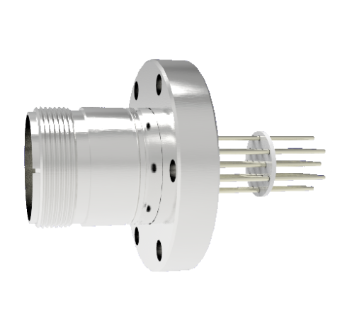 16 Pin 5015 Style Circular Connector, 700V, 4.8 Amp, Alumel Conductors in a CF2.75 Without Plug