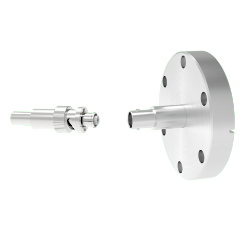 SHV Grounded Shield Recessed 5kV 10 Amp 0.094 Nickel Conductor CF2.75 Flange With Plug