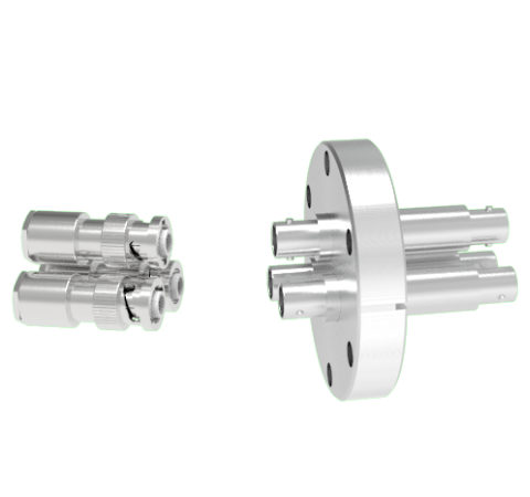MHV Grounded Shield Recessed 5kV 3.6 Amp 3 each in a CF2.75 Flange With Plug