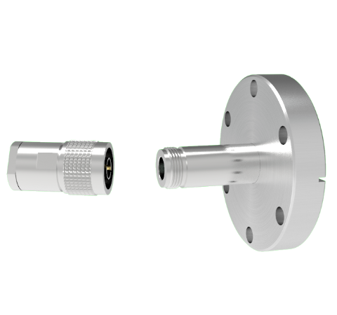 Type N Grounded Shield Recessed 1.5kV 3.6 Amp 0.094 304 Stn. Stl. Conductor CF2.75 Flange With Plug