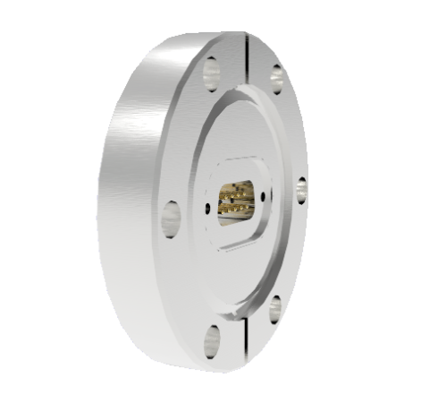 9 Pin Sub D 24308 Series 500V 5 Amp 0.040 Stn. Stl. Gold Plated Conductor in a CF2.75 Without Plug