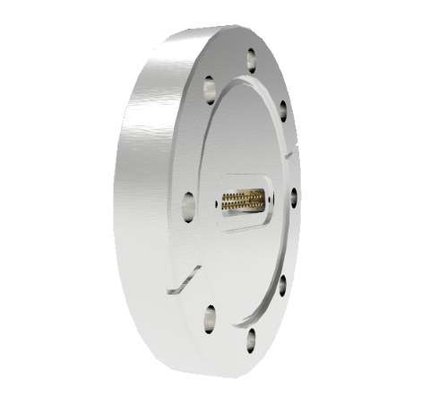 25 Pin Sub D 24308 Series 500V 3 Amp 0.040 Stn. Stl. Gold Plated Conductor in a CF4.50 Without Plug