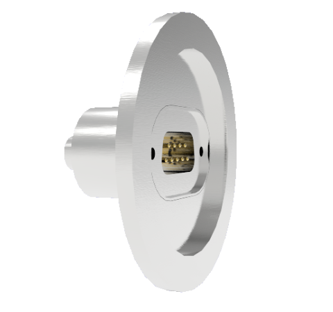 9 Pin Sub D 24308 Series 500V 5 Amp 0.040 Stn. Stl. Gold Plated Conductor in a KF40 Without Plug