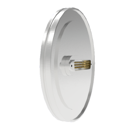 50 Pin Sub D 24308 Series 500V 3 Amp 0.040 Stn. Stl. Gold Plated Conductor ISO LF100 Without Plug