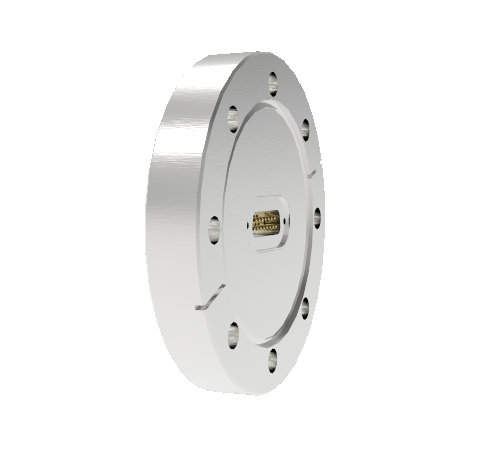 15 Pin Sub D 24308 Series 500V 5 Amp 0.040 Stn. Stl. Gold Plated Conductor in a CF4.50 Without Plug