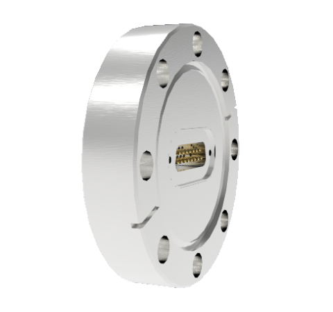 15 Pin Sub D 24308 Series 500V 5 Amp 0.040 Stn. Stl. Gold Plated Conductor in a CF3.375 Without Plug