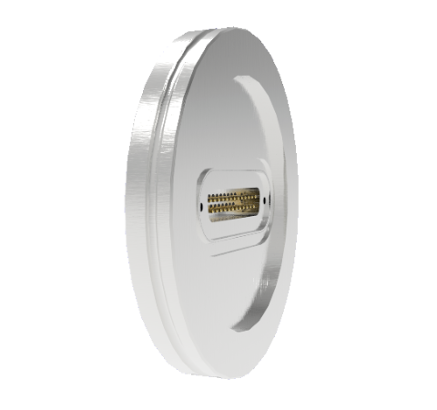 25 Pin Sub D 24308 Series 500V 3 Amp 0.040 Stn. Stl. Gold Plated Conductor in ISO LF63 Without Plug