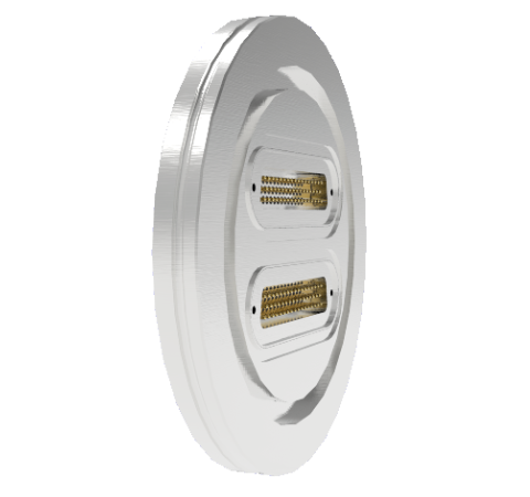 50 Pin Sub D 24308 Serie 500V 3 Amp 0.040 Stn. Stl. Gold Plated Conductor ISO LF100 Without Plugs