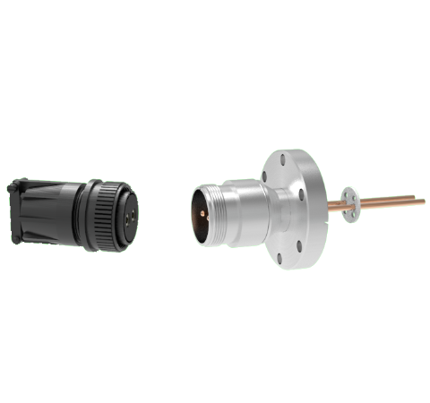 2 Pin, 69 Amp Circular Connector, 1.25kV, Copper with Silver Plating Air Side in a CF2.75 With Plug