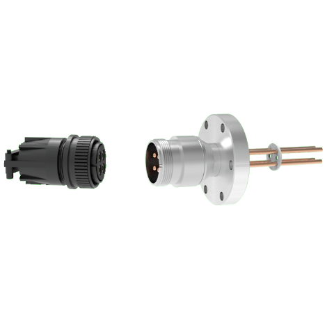 4 Pin, 69 Amp Circular Connector, 700V, Copper with Silver Plating on Air Side in a CF2.75 With Plug