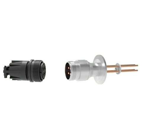 4 Pin, 69 Amp Circular Connector, 700V, Copper with Silver Plating on Air Side in a KF40 With Plug