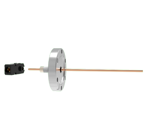 1 Pin Quick Connect, 2.5kV, 70 Amp, 0.154 Copper, Silver Plating Air Side, CF2.75 Conflat With Plug