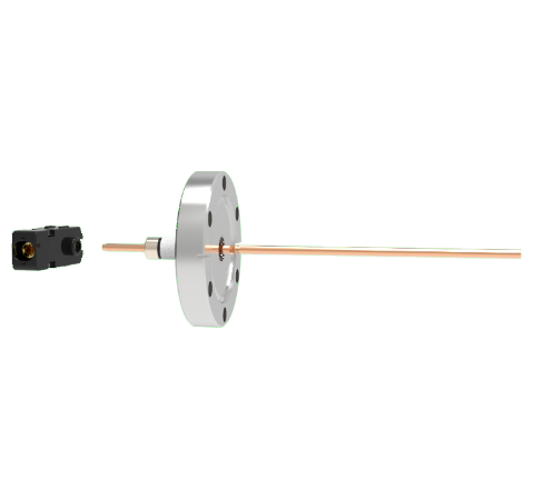 1 Pin Quick Connect, 2.5kV, 70 Amp, 0.154 Copper, Silver Plating Air Side, CF1.33 Conflat With Plug